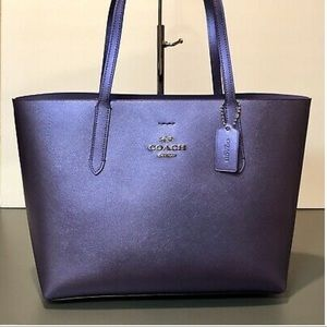 Coach Bags - Coach Avenue Tote Metallic Periwinkle purple
